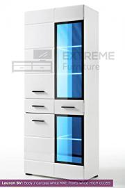 Fashionable Display Wall Unit Cabinet LAUREN (Tall Cabinet SV)
