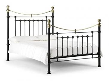 Victoria Satin Black Bed 135cm Traditional Style Bedroom Decor