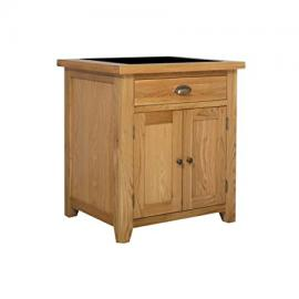 Cheshire Oak Small Kitchen Island Granite Butchers Block