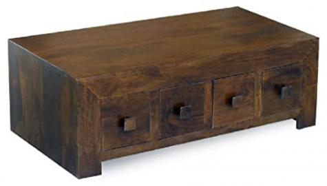 Dakota 8 Drawer Coffee Table Constructed from 100% Real Mango Wood
