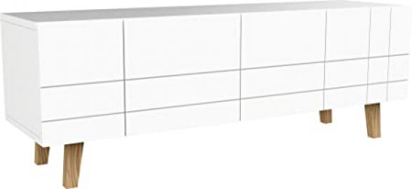 Scandinavian TV Cabinet 4Doors White