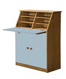Design Vicenza Hobby Desk Antique With Baby Blue Details