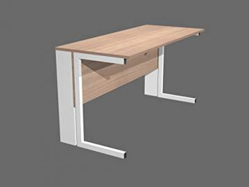 Desk Compact Eco Right Or Left With Metal Hips Cm. 140X80X72H Office Forniture