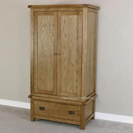 Cheshire Oak 2 Door Double Wardrobe