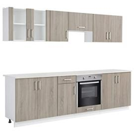 vidaXL Oak Look Kitchen Cabinet Unit with Built-in Oven 8 Functions