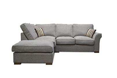 Fable Beige Formal Back Left Hand Corner Sofa, Fabric