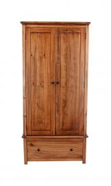 Core Products DN581 Two Door and Drawer Wardrobe, Aged Antique Finish