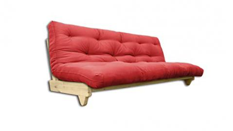 Sofa bed Fresh, Natural, Red Futon, 107x140x82 cm.