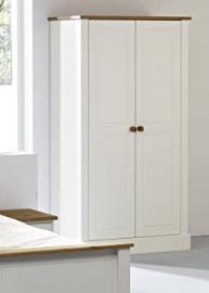 Balmoral White Wardrobe, 2 door white double wardrobe