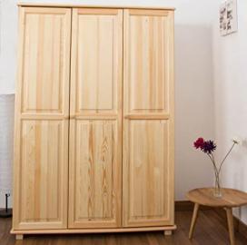Wardrobe solid natural pine wood 016 - Dimensions 190 x 133 x 60 cm (H x B x T)