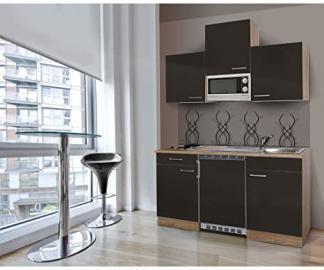 respekta KB150ESGMI Single Mini Kitchen Unit Kitchen Island 150 cm / Fresh-Sawn Oak / Grey