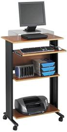 Safco Muv Cherry Stand Up Fixed Height Workstation
