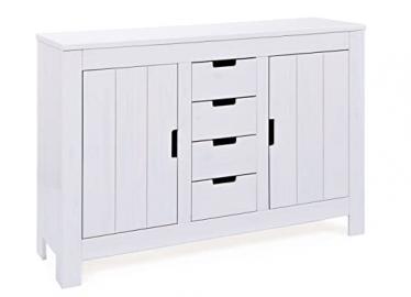 Interlink Bertram Chest Pine 2-Doors/ 4-Drawers, White