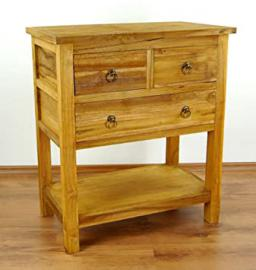 Java Furniture Reclaimed Teakwood rustic, Cabinet with 3 drawers, dresser