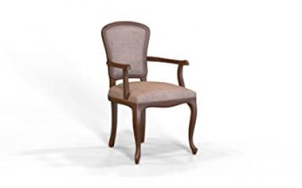 Selva SPA Epoca Mirabeau 8029853000533 Wood Armchair Classic and Elegant with Walnut Finish, 54 x 61/ 96/ 51 cm, Brown