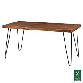 FineBuySolid Sheesham Wood Dining Table Kitchen Table 160cm x 80cm x 76cm