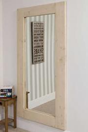 Large White Farmhouse Solid Natural Wood Mirror