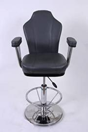 Barstool grey Faux leather Luxe