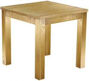 Solid Pine Dining Table Brazil 80 x 80 cm Waxed and Oiled