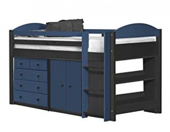 Design Vicenza Maximus Mid Sleeper Set 3 Graphite With Blue Details