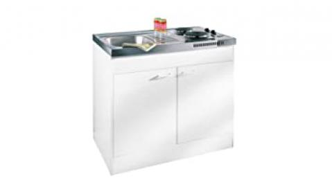 Baumarkt Direkt Pantry Kitchen, with Dual Hob without Assembly Service, White