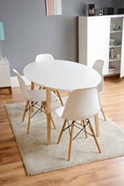 MY-Furniture - Dining table lacquered white retro Round -Tretton (Round White Lacquered)