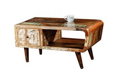 Shankar Enterprises Babylon Reclaimed Coffee Table with Clear Laqcuer, 52 x 120 x 60 cm, Multi-Colour