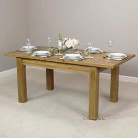 New London Oak Medium Extension Table Seats 6 to 8
