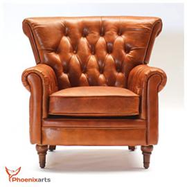 Chesterfield Vintage 549 Leather Armchair Lounge Leather Club Sofa Chair