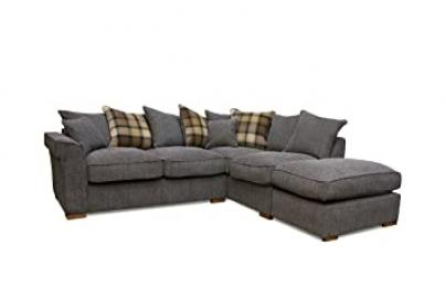 Fable Charcoal Scatter Back Right Hand Corner Sofa, Fabric