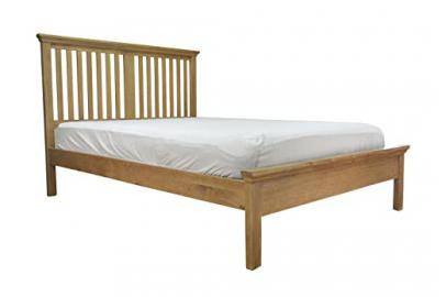 Warwick Oak 4ft6 Double Bed Frame in Waxed Oak Finish | Wooden Bedroom Furniture