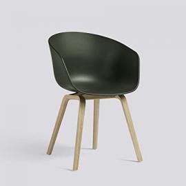 About a Chair 22 Armchair Frame Oak green/frame oak