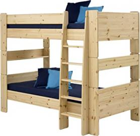 Steens Kids Pine Bunk Bed, Natural Lacquer Finish