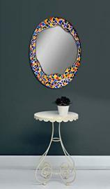 Glass mirrors decorated by hand: model GAUDI.