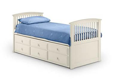 Hornblower White Bed With Pull Out Under Bed & 3 Drawers