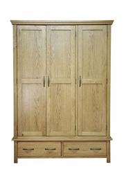 Alcester Oak Large Triple Wardrobe