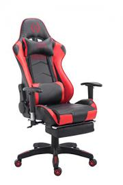 Swivel desk chair, Racing Gaming Chair, office chair, High Back Executive PU Faux Leather Chair with Footrest, Extra Padded Computer Chair ergonomic office chair black / red eMarkooz