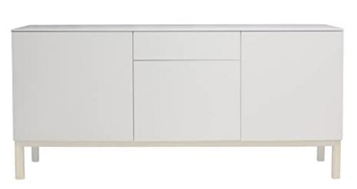 Tenzo PATCH Designer Sideboard, 85 x 179 x 47 cm, White/White Washed