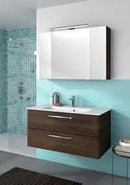 "PELIPAL Trentino 1070Bathroom Furniture Set/42""/Mineral Marble Wash Basin Cabinet/Mirror SCHRAN"