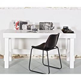 contemporary office & computer desk in white pine