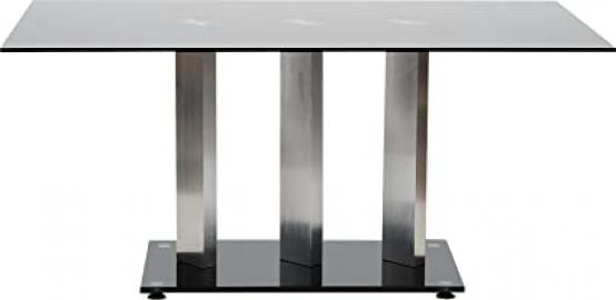 Hermosa Avena and Aluminium Dining Table Glass and Aluminum, Glass, Black, Medium, 160 x 90 x 75 cm