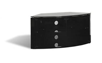 Techlink Bench B6B Audio Visual Furniture Corner Unit - Black