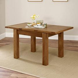 Rustic Oak Small 4-6 Seater Extending Dining Table