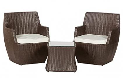 Royalcraft 229252 Miami Stacking Bistro Set Includes Cushions