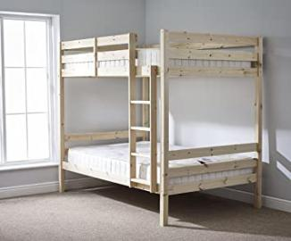 DOUBLE Bunkbed with TWO MEMORY FOAM mattresses - 4ft 6 TWIN Bunk Bed - VERY STRONG BUNK! - Heavy Duty Use