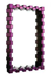 Premier Housewares Glass Wall Mirror - 88 x 12.5 x 136 cm, Purple