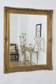 Huge & Imposing Fabulous ANTIQUE GOLD Overmantle or Wall Mirror with Deep Ornate Frame and complete with Premium Quality Pilkington's Glass - Overall Size: 48 inches x 60 inches (122cm x 152cm)