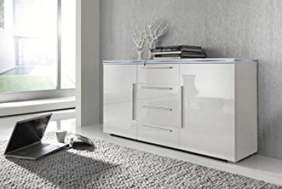 LEVERKUSEN Living Room Cabinet Sideboard with RGB LED