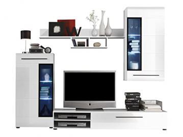 Furnline Skin High Gloss TV Stand Wall Unit Living Room Furniture Set, White