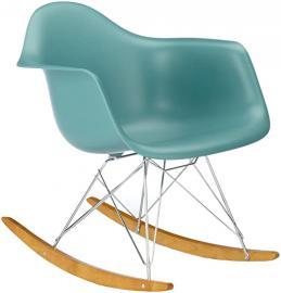 Vitra 4401130021 RAR Eames Plastic Armchair Rocking chair Chrome Frame Ocean
